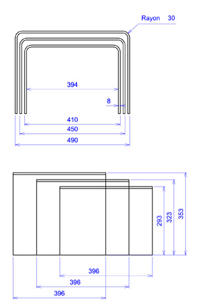 plan tables basses Triade
