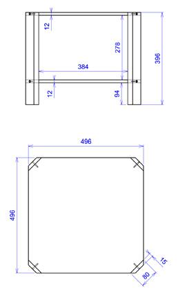 Petite table transparente plexiglas salsa for Table de nuit transparente